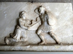 Greeks vs Amazons (RobW_) Tags: relief carving greeks amazons museum ancient corinth peloponnese greece wednesday 08mar2017 march 2017