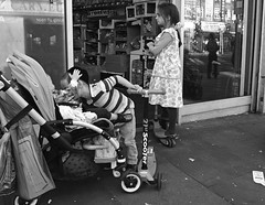 Brotherly Love (Becky Frances) Tags: blackandwhite blackandwhitestreetphotography beckyfrances city candid children documentary england london lensblr northlondon olympus streetphotography socialdocumentary stamfordhill urban uk 2016