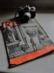 LIFE in 1945 (sarahellenspringer) Tags: magazine 1945 vintage politics congress lincoln life canera paper edge red 7dwf year dime pages history