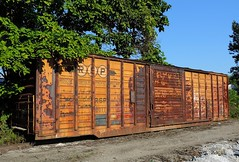 RSP 5011 (Proto-photos) Tags: rsp roscoesnyderandpacificrailroad vintage old storage boxcar railcar freightcar youngwood pennsylvania westmorelandcounty 5011 rusty weathered berwick railroad 50ft rollingstock train