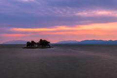 sunset 7939 (junjiaoyama) Tags: japan sunset sky light sun cloud weather landscape orange purple contrast colour bright lake island water nature spring
