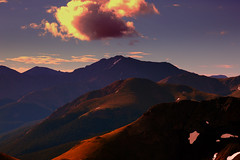 La PlataPeak  in morning  from 13 k south of  indepandnce  pass (crps_1964) Tags: salidadelsol verano morning sunrise hiking fourteener sawatcthrange geologicformation summer montaña mountain colorado