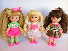 1990 Wee Li'l Miss Doll Collection (The Barbie Room) Tags: 1990 1990s 90s wee lil miss doll mattel bedtime ballerina rollerskater
