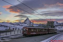 GGB Bhe 4/8 3051 (brad11663) Tags: ggb gornergrat bahn bhe 48 zermatt valais wallis matterhorn cervin cloud train sunset