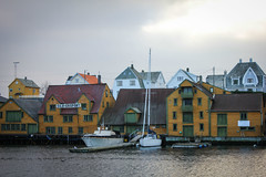 (Lars-Petter) Tags: haugesund kai port sea water clouds boat boats old buildings norway norge canon 550d
