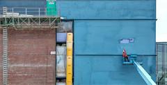 It All Flows Downhill (ioensis) Tags: itallflowsdownhill interdisciplinary science building webster university groves mo missouri jdl ioensis 05722007067tmf1b©johnlangholz2017 april 2017 construction site paric contractor air barrier infiltration brick shelf portapotty portable toilet nuway scaffold staging leonard national gypsum