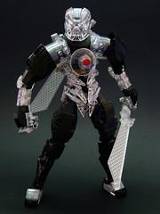 Taimanas the Unbreakable (Djokson) Tags: bionicle lego moc toy model djokson toa earth diamond swords warrior robot mask crystal clear black