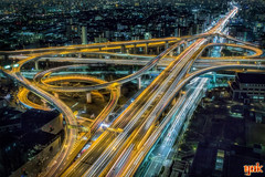 Junction (yuk_miy) Tags: japan osaka junction nightphotograph nightview nightscape cityscape hdr highway longexposure canon canonphotography