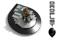Droplet Hovercraft (David Roberts 01341) Tags: lego ldd povray minifigure scifi space hovercraft