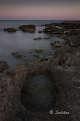 Dunas fosiles 11 (Santiago Vidal - Saliken) Tags: seascape sea mar agua water lanscapes cielo longexposure largaexposicion piedras rocas stones canon canon7d sigma1020 sigma filtrosnd saliken