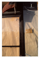 (Michael Raymond Lund) Tags: america flag american slide film e6 color photography urban nyc new york city queens ozone park line shadow light fujichrome provia 100f 35mm olympus om 4ti