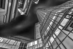 Frankfurt perspectives (Helmut Wendeler aus Hanau) Tags: deutschebank frankfurt wolkenkratzer hochhaus germany perspektive ungewöhnlicheperspektive