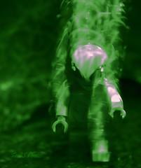Alien abducted (Tom Slate) Tags: macromondays intentionalblur legominifigure movement blur lego niftyfifty sonyalpha77ii sonyamount hmm green laserlight alien littlegreenmen longexposure