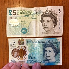 Old fiver (♔ Georgie R) Tags: fiver £5notes