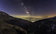 5 am (leoskar) Tags: nightscape astronomy milkyway stars night lights colors longexposure exposure nikonpassion nikon switzerland suisse valais wallis alps mountains