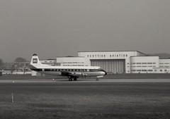 G-AOFX. British European Airways Vickers V.701C Viscount (Ayronautica) Tags: gaofx britisheuropeanairways vickersv701cviscount bea airliner turboprop prestwick pik egpk aviation ayronautica february 1961 scanned