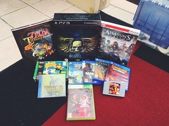 Holiday Pickups. #retrovideogames #videogameroom #videogamecollection #videogames #mancave #gamesroom #gamesshed #gaming #xbox #xbox360 #ps4 #ps3 #sega #segadreamcast #zelda #assassinscreed #warhammer #snes #nintendo #shumps #n64 (tomrabett) Tags: retrovideogames videogameroom videogamecollection videogames mancave gamesroom gamesshed gaming xbox xbox360 ps4 ps3 sega segadreamcast zelda assassinscreed warhammer snes nintendo shumps n64
