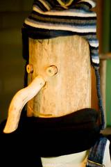 log man (image mine) Tags: carve wood hatscarf