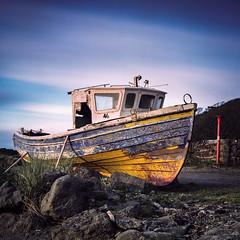 Forgotten (stephen cosh) Tags: 80mmplanar analogue boat dunure film hasselblad500cm kodakektar100 longexposure squareformat stephencosh
