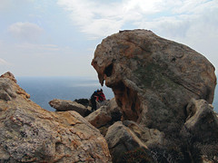 A day at an exhibition 338. Hard hiking, wild swimming and admiring rocks scuptured by nature in Cape Papas, Ikaria (angeloska) Tags: colors ikaria kavopapas opsikarias karkinagri trailofthelighthouseguards march girls rockclimbing hiking aegean greece sea rocks ικαρία καρκινάγρι κάβοπάπασ μονοπάτια hollowrocks οπσικαρίασ