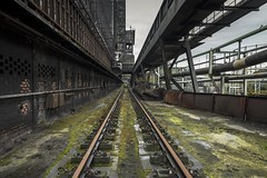 Tracks (Camera_Shy.) Tags: coke works belgium derelict abandoned urban exploration decay disused old train abandonment exploring urbex europe industrial factory uscine decayed ue tresspassing nikon d810