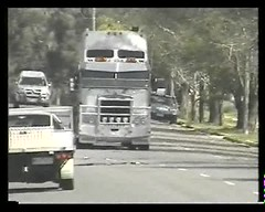 Filmed by secret squirrel (secret squirrel6) Tags: secretsquirrel6truckphotos craigjohnsontruckphotos australiantruck bigrig kenworth cabover truckvideo beaufort 2009 video westernhighway