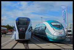 Pesa Dart + Siemens Velaro, Innotrans Messe Berlin, 19-09-2016 (Henk Zwoferink) Tags: berlin duitsland de innotransmesseberlin 19092016 innotrans messe henk zwoferink