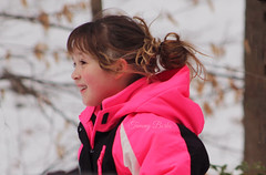 Sledding with Papa (Tammy Borko Photography) Tags: winter 2017 sledding snow girl playing cold outdoors tammyborkophotography tammyborko borko pink wintercoat blonde manassasvirginia photography child littlegirl canoneosrebelt3 canon fun smile march