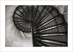 Spiral Staircase (DJ Wolfman) Tags: blackandwhite bw olympus olympusomd em1markii 12100mmf4zuiko zuiko micro43 zd