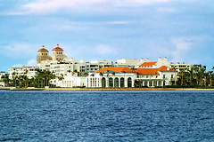 Flagler Estate from West Palm Beach (StevenM_61) Tags: florida palmbeach clouds water lake lagoon buildings mansion hotels westpalmbeach