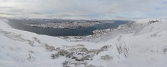 Panoramic view of Tromsø, Norway (fame&obscurity) Tags: tromsø tromso northernnorway norway scandinavia panorama tromsøpanorama tromsøview tromsølandscape tromsøcablecar cablecar arcticcircle tromsopanorama tromsoview tromsolandscape tromsocablecar arctic winter wintery blizzard mountain mountains snowymountain snowymountains wilderness lastfrontier