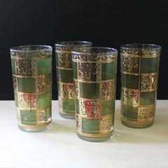 Prado. (Kultur*) Tags: vintage vintagehousewares vintagebar barware midcentury midcenturymodern glassware 1960s culverglasses lattice vintagebarware culverglassware gold prado culver culverprado