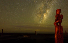 The Watchers (ajecaldwell11) Tags: night milkyway ankh astrophotography stars celestialcompass pou light hawkesbay waitangi napier sky clouds beach caldwell poles newzealand