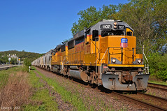 """Westbound Local in Bonner Springs, KS (""""Righteous"""" Grant G.) Tags: up union pacific railroad railway locomotive train trains west westbound local freight kansas subdivision emd power engine"""