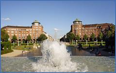 Mannheim (sinepo) Tags: stadt wasserturm wasser augustaanlage fontäne brunnen