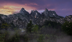 Night Alps (Tim Allendörfer) Tags: night alps alpen bayern bavaria ramsau klausbachtal mühlsturzhörner ramsauerdolomiten mountains stone rocks late colors sky clouds sun sunset trees nature photography landscape mood awesome