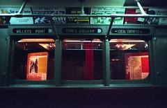 Times Square Stop (Past Our Means) Tags: canon ae1 kodak film 35mm travel ektar 100 analog green explore kodakfilm canonae1 analogue indiefilm filmphotography filmisnotdead istillshootfilm 28mm adventures wanderlust portra800 newyorkcity subway vintage lowlightphotography manhattan nightlife times square portra metro historical museum orange red