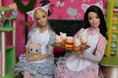 Barbie cat-cafe (Olga Fairys) Tags: barbie barbie2016 madetomove catcafe catcake rement miniature dolls fashionistas mattel dollphotogallery dollphotography