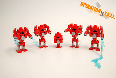 OPERATION [] T.A.I.L. - Fire Hydrant Bots (NS LEGO Designs) Tags: nslegodesigns moc creation build lego mecha mechs futuristic apocalypse firehydrants robots husky huskies dogs animals weapons soldiers huskymechs firehydrantbots water operation tail