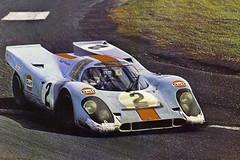 Winning Porsche 917K at the 1970 Daytona 24 (Nigel Smuckatelli) Tags: porsche porsche917 gulf 1970 1970daytona24 pedrorodriguez leokinnunen brianredman brucecanepa daytona dis daytonainternationalspeedway