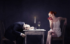 Sweet Heart (rob domenech) Tags: sombrebeings love valentines conceptual darkart darkartist blood heart heartbroken couple romantic candle wine sonya7r