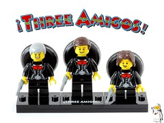 ¡Three Amigos! (slfroden) Tags: threeamigos lego minifigure collectable three amigos series16 luckyday dustybottoms nednederlander stevemartin chevychase martinshort poster mariachi