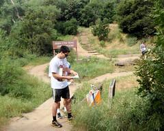009 The Control At The Bridge (saschmitz_earthlink_net) Tags: 2017 california orienteering losangeles losangelesorienteeringclub laoc griffithpark
