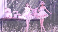 Let Them Eat Cake (Taylor Wassep) Tags: secondlife due curemore curelessdisorderly ison phedora hive dustbunny ancltd applefall bloom prismeventssl luxebox outside terrace pink white cake dessert garden fantasy jangsungyoung taylorwassep mesh