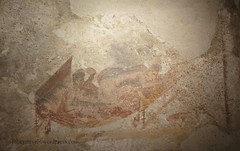 0012 Lupanar,Fresco above cubicle, Vicolo del Lupanare, Pompeii (5) (tobeytravels) Tags: pompeii lupanar brothel fresco