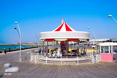 Carousel, Tel Aviv Port (niron) Tags: sea beach blue sun clear outdoors beautiful view sony sonyalpha sigma sigma30mmf14dcdn travel carousel