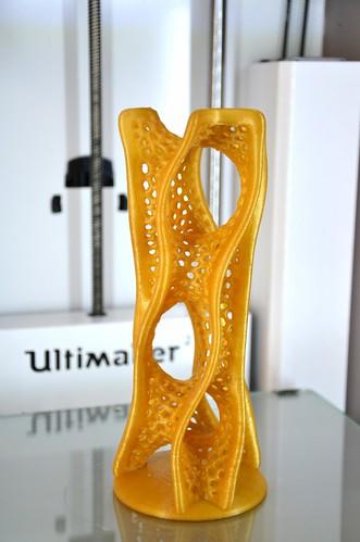 3d printed D Tower - Math Art by Dizingof-3