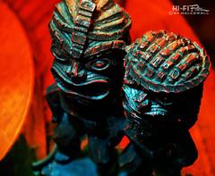 Carved Idols (Hi-Fi Fotos) Tags: tiki idol carve chisel art gods kitsch decor statue wood nikon d5000 hififotos hallewell retro vintage antique treasure