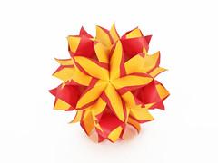 Pirand (masha_losk) Tags: kusudama кусудама origamiwork origamiart foliage origami paper paperfolding modularorigami unitorigami модульноеоригами оригами бумага folded symmetry design handmade art