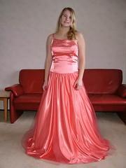 Satin angel (Paula Satijn) Tags: girl young lady blond blonde orange satin silk dress gown ballgown shiny skirt beauty gorgeous elegance feminine girly pretty class cute sweet glamour glamorous